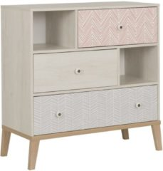 Gamillo Furniture Commode Alika 95 cm hoog in Wit kastanjehout