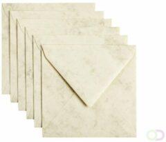 Papicolor Envelop Vierkant Formaat 140 X 140 Mm Kleur Ivoor