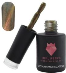 Influence - Premium Gellac Influence Gellac #CHAMPAGNECATEYE - UV / LED Gellak - Gel nagellak - Bruin / Glitter / Nude - 10 ml