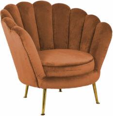 Richmond Interiors Richmond Fauteuil 'Perla' Velvet, kleur Rust