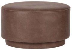 Vtwonen Coffee Poef - Ecoleer - Warm Bruin - 36x60x60