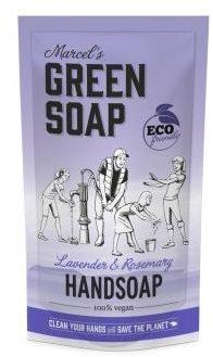 Afbeelding van Marcel's Green Soap Marcel's groen Soap Handzeep Lavendel&Rozemarijn Navul Stazak 500 ml