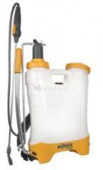 Gele HOZELOCK RUGSPUIT 12 Liter Ergonomisch ontwerp voor rechts- als linkshandigen
