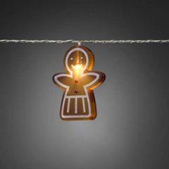 Bruine Konstsmide LED Decoratiesnoer WARMWIT met 8 peperkoekvrouwtjes