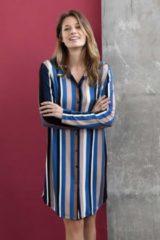 Blauwe Ringella Modern nachthemd met knopen