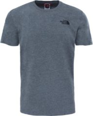 Grijze The North Face S/s Redbox Tee - Eu Outdoorshirt Heren - TNF Medium Grey Heather (Std)