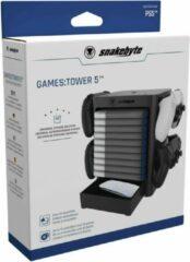 Zwarte Snakebyte Tower 5 - game en controller opslag unit- PS5