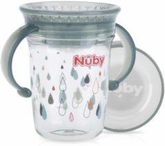 Nûby - Drinkbeker - 360° Wonder cup met handvatten in Tritan™ - Grijs - 240ml - 6m+