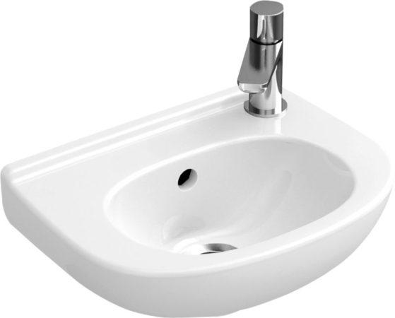 Afbeelding van Witte Villeroy & Boch Villeroy en boch O.novo fontein 36x27.5 cm. kraangat rechts met overloop wit 53603801