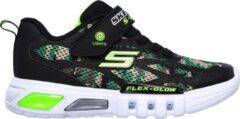 Witte Skechers Flex Glow Rondler Jongens Sneakers - Groen/Multi/Zwart - Maat 30