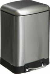 Zilveren 4Goodz Pedaalemmer 6 liter met uitneembare binnen emmer - RVS