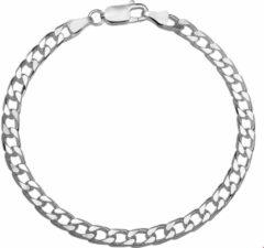 Quickjewels huiscollectie Zilver Gerhodineerde Armband geslepen gourmet 5 1321665