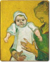 MousePadParadise Muismat Vincent van Gogh - Madame Roulin en haar baby - Schilderij van Vincent van Gogh muismat rubber - 19x23 cm - Muismat met foto