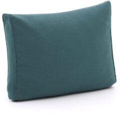 Blauwe Madison loungekussen luxe rug 60x40cm - Laagste prijsgarantie!