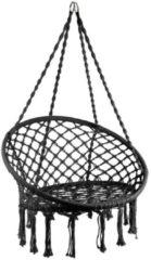Barceló Hangstoel knoet - Zwart - 60x80x100cm - lounge/ woonkamerstoel