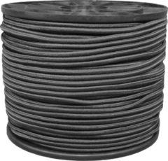PasschierTerpo 100 mtr - Elastiekkoord - koord - zwart - 6 mm - haspel
