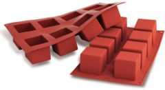 Rode Silikomart Siliconen Mal Cubo 50x50mm