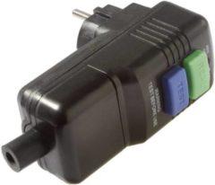 As - Schwabe 45209 Haakse stekker met randaarde Kunststof Met PRCD 230 V Zwart IP44