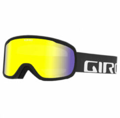 Zwarte Giro GG Cruz Skibril - Black Wordmark - Yellow Boost