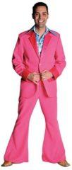 Grijze Fun & Feest Party Gadgets Roze 70's kostuum voor heren 56-58 (l)