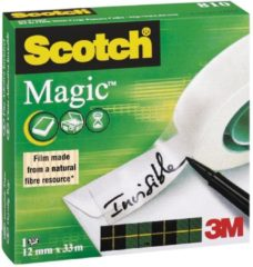 Bruna Onzichtbaar plakband Scotch Magic 810 12mmx33m