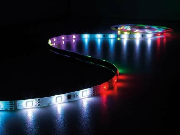 Afbeelding van Rode Vellight KIT MET DIGITAAL GEANIMEERDE LED-STRIP, CONTROLLER EN VOEDING - RGB - 150 LEDs - 5 m - 12 VDC