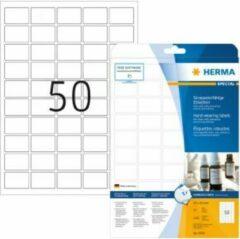 Etiketten Herma 8338 slijtvast A4 37x25 mm wit vast hechtend folie mat weerbestendig 1250 st.