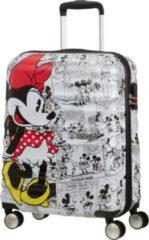 Witte American Tourister Reiskoffer - Wavebreaker Disney Spinner 55/20 Disney (Handbagage) Minnie Comics White