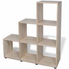 Bruine VidaXL Boekenkast/presentatiemeubel trapvormig 107 cm eikenkleur