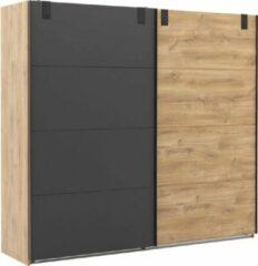 Bruine Goossens Industrial kledingkast Hoogwaardig meubelplaat