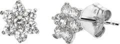 Goudkleurige The Jewelry Collection Oorknoppen Zirkonia - Witgoud