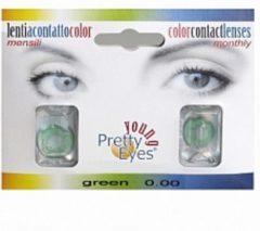 Pretty Eyes 1-Dag kleurlens 2P groen 2 Stuks
