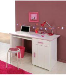 Kinderschreibtisch 'Biotiful 8' Rosa-Weiß Parisot Rosa