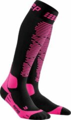 CEP - Women's Ski Merino Socks - Compressiesokken maat IV, zwart/roze