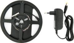 Zwarte Groenovatie LED Strip, 2 Meter, 7.2 Watt/meter, 2835 LED's, Blauw, Incl. Adapter