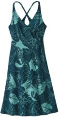 Patagonia Amber Dawn Dress Women Damenkleid Größe L valley flora:tidal teal