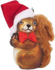 Weihnachtseichhörnchen Krebs Glas Lauscha Braun