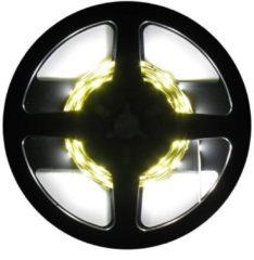 Witte Avide LEDstrip - 5 meter 230 Volt - complete set - 60 LED/MTR - 4000K
