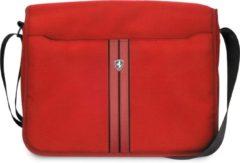Ferrari 11-12-13 inch Laptoptas type schoudertas voor laptop en notebook (messenger tas), 11-12 -13 inch voor o.a. HP, Dell, Asus, Acer, Medion, Toshiba, Lenovo, Macbook, Microsoft, Peaq etc., Rood , - Urban Collection - FEURMB13RE