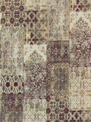 Ginore Vintage Vloerkleed Patchwork - Deco Safou - 140x200 Paars Tapijt