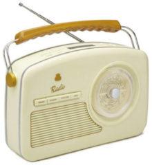 Creme witte GPO RYDELLDABCRE - Trendy jaren 50 style DAB+-radio - crème