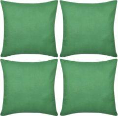 3pommes Kussenhoezen katoen 80 x 80 cm groen 4 stuks