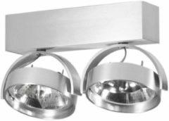 Artdelight - Plafondlamp Dutchess 2L - Aluminium - 2x LED 15W 2200K-3000K - IP20 - Dim To Warm