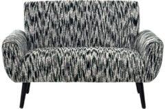 Sofa, 2-Sitzer Zevana miaVILLA schwarz/weiß