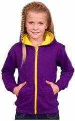 Awdis Meisjes vest paars met geel XL (12-14 jaar)