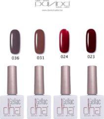 Rode DNA  ® DNA Gellac - UV/LED Gel Polish Set - Gel Nagellak - Shellac - 4 kleuren gellak