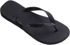 Zwarte Havaianas Top Unisex Slippers - Black/Black Black - Maat 33/34