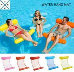 Rs&k Watersport WaterHangmat- Rs&k Waterspeelgoed- Opblaasbare Waterhangmat- Zwembad - Opblaasbaar Voeten en Hoofdkussen stuk - Zwembad Lucht bed - Roze