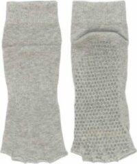 Grijze Bonnie Doon - Dames - Yoga Toe Sock - Light Grey Heath. - maat 36-41