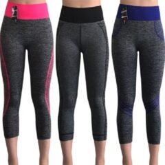 Blauwe Merkloos / Sans marque Yoga annex sportleggings capri model (3pack)